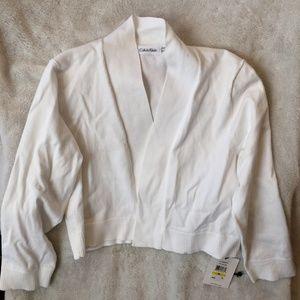 Calvin Klein White Bolero Sweater Medium NWT